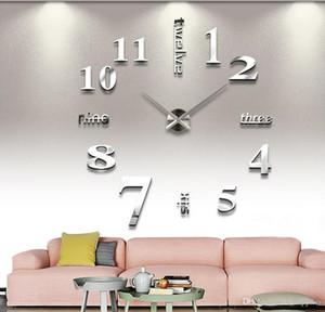 Neue Moderne DIY 3D Wanduhr Super große Quarz Nadel Acryl DIY Spiegel Wanduhr Home Wohnzimmer Dekoration C259