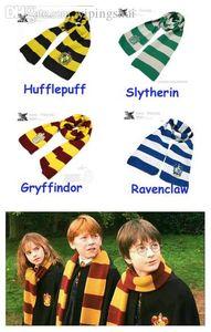 Wholesale-Harry Potter Scarves Movie Fans' Favorite School Unisex Striped Gryffindor Scarves Slytherin Scarves Free shipping Lot