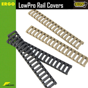 "Taktik 7 ""Picatinny Merdiven Raylı Quad Rail Kauçuk Kapakları (4 paket) Siyah / Tan"