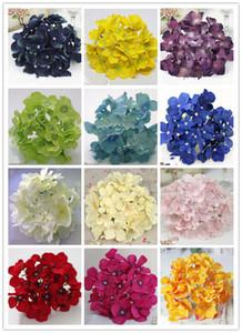 21COLORS !! bouquet de flores flor cabeça DIA 15 centímetros artificial hortênsia diy casamento cabeça coroa de decoração guirlanda casa