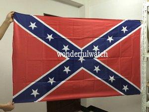Bandierina della bandiera civile confederata di guerra civile dei due lati stampata bandiera nazionale del poliestere 5 X 3FT 50pcs DHL libera il trasporto