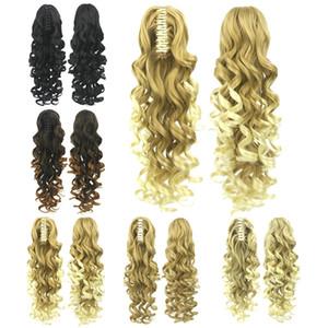 ZF Femmes Mode Pince À Griffes Ponytails 5 Couleurs Synthétique Longue Bouclée Ondulée 60 CM 180g Extensions de Cheveux