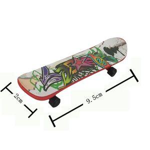 Kinder Spielzeug Animation Nachbar Modell Finger Board Truck Mini Legierung ABS Skateboard Spielzeuge Finger Skateboards