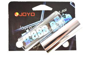 Joyo vidro liso Deslize Chrome Aço Slide guitar Slides Resonant rico tons brilhantes Metallic Tons frete grátis grosso