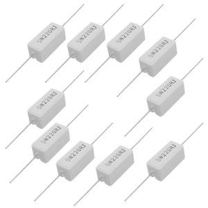 FS Hot 10 Pcs Axial Lead Ceramic Cement Power Resistor 220 Ohm 5W order<$18no track