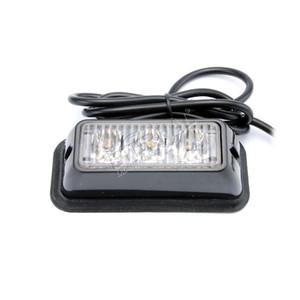 envío libre 2pcs 3W LED warnin emergencia Strobe luz ámbar de luz de seguridad para campo a través de ATV UTV motocicleta camión 4x4 equipos