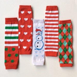 Natale 2015 bambini Natale carino rosso striscia cuore rosso pupazzo di neve scaldamuscoli bambini leggings adulto braccio scaldino vendita calda di buona qualità 12 Pair