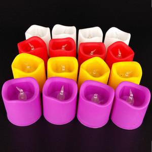 공장 직접 전자 촛불 크리스마스 장식 파티 활동 단색 색상 발광 촛불을 혼합에 종사하는 shippi