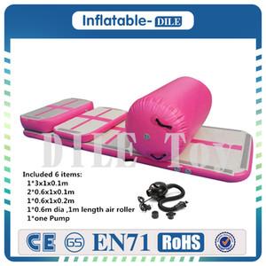 Бесплатная доставка Набор надувного тренажера для аэробуса (Air Ramp + Air Box + Track Connect + Pump)