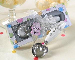 LIVRAISON GRATUITE 50 PCS Scoop of Love en forme de coeur ICE CREAM SCOOP avec boîte-cadeau Faveurs de mariage Party présente événement Keepsake