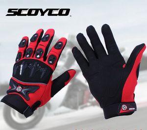 Scoyco 경쟁력있는 XC 오토바이 장갑 봄, 여름 고급 브랜드 나이트 오토바이 장갑 MX47 블랙 레드 블루 컬러