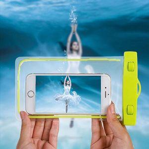 PVC Luminous 방수 전화 케이스 아이폰 X 7 6 6 플러스 8 플러스 삼성 S8 참고 물 증거 수 중 투명한 주머니 가방