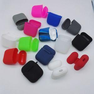 Красочные силиконовые защитный чехол для iPhone Airpods iPhone 7 близнецы правда беспроводная гарнитура Силиконовый Airpod защитный чехол сумка