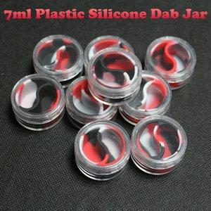 Neue geformte 7 ml acryl kunststoff container für slick kleine öl bho behälter silikonkonzentrat container tupfgläser bho extraktion silizium