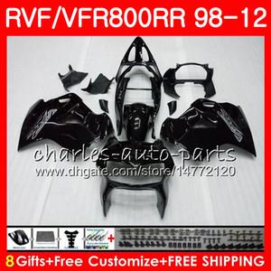 VFR800 Für HONDA Interceptor VFR800RR 98 99 00 01 02 03 04 12 glänzend schwarz 90HM10 VFR 800 RR 1998 1999 2000 2001 2002 2003 2004 2012 Verkleidung