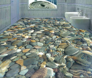 Banheiro do mundo do mar 3D piso para piso pintura vinil piso banheiro