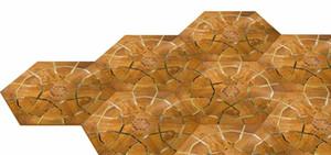 Sapele wood floor Private Copper wood floor Mosaic floor Combination floor High-end custom floor Design House floor Jade inl