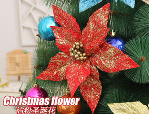 6pcs 24cm Celosia cristata 플라워 스팽글 골드 파워 펜던트 서스펜션 장식 크리스마스 파티 휴일 트리 Venun 걸려 장식