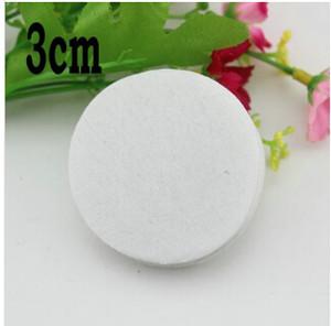 5% de desconto da ordem experimental 3 cm rodada feltro almofadas de tecido acessório patches almofadas de feltro do círculo, diy flor accessories1000pcs / lot