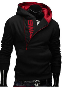 2016 New Men's Clothing Letters of bump color man fleece side zipper Hoodies & Sweatshirts Jacket
