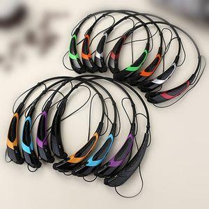 HBS760 HB-S760 Auriculares inalámbricos Bluetooth V4.0 Auriculares intrauditivos Banda para el cuello Estéreo con micrófono Auricular para deportes 100pcs / lot SIMPLE OPP
