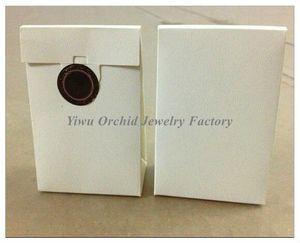 Atacado 50 Pcs Requintado de Alta Qualidade Mini Saco De Papel Branco Caixa De Presente 9 * 6 * 3 cm Serve Para Pandora Caixa De Jóias Encantos Contas Anéis Saco De Embalagem
