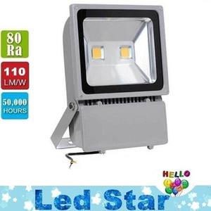 100W 2X50W Led Projektörler 9000 Lümen Süper Parlak Su Geçirmez Açık Led Sel Işıkları Sıcak / Soğuk Beyaz AC 85-265 V