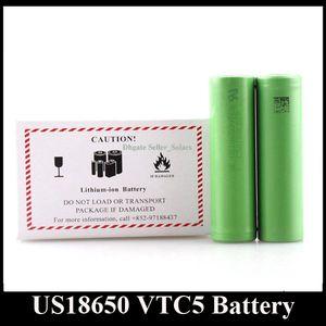USA Verschiffen US18650 VTC4 VTC5 VTC6 Lithiumbatterie 18650 Batterie Klonen 2600 mAh 3,7 V Schnellladung Langlebige Trockenbatterie