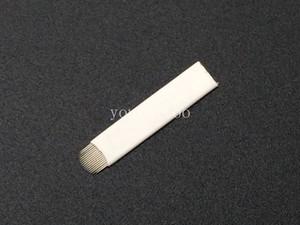 100 ADET U-Şekli 18 pin Microblading İğne Kaş Dövme Bıçak Kalıcı Makyaj Için Manuel Kalem 3D Kaş Nakış