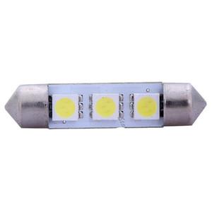 Neues Freies Verschiffen 10 x Weiß 31/36/39 / 41MM 3 LED 5050 SMD Girlande-Auto-helle Innenlampen-Birne 12V LLCA0008