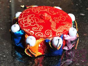 Chinese Silk Brocade Wedding Candy box Handmade Sewing Storage Case Home Decorations Crafts