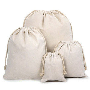 Tuval İpli Torbalar 100% Doğal Pamuk Çamaşır Favor Tutucu Moda Takı Torbalar
