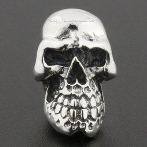 Büyük Ağır 925 Ayar Gümüş Kafatası Erkek Biker Rocker Damızlık Küpe 8R020A