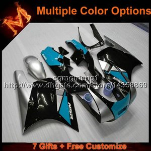 23colors+8Gifts Bodywork BLUE motorcycle cowl For Honda VFR 400 NC24 1987 1988 NC24 87 88 ABS Plastic Fairing