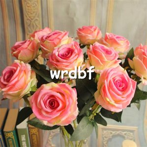 "Single Stem Velvet Rose 70cm / 27.56 ""Flores Artificiales Flannelette Flannelette Acacia Roses para Wedding Centerpiece 7 colores disponibles"