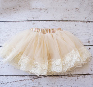New children tutu skirt baby girls lace tulle pitti skirt Newborn skirt A6079