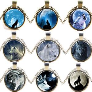 Photo Glass Cabochons collar Wolf Totem redondos medallón suéter cadena tiempo piedra 2015 nuevo envío gratis