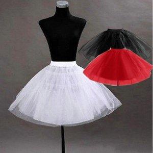 Nuevo Pretty Tutu Petticoat Underskirt Accesorios para niños En Stock Red Black Girls Pageant Vestido Crinoline No Hoop ropa interior Slip CPA274