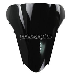 Motorrad Doppel Bubble Windschutzscheibe Windschutz für 2002-2009 Honda VFR800 VFR 800 02 03 04 05 06 07 08 09 2005 2007 2008 Schwarz