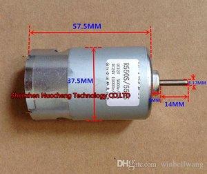 Tout nouveau moteur à courant continu à aimant permanent 555/550 12V 5000RPM 24V 10000RPM moteur à balai en carbone ~