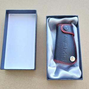 جلد حقيقي AMG LOGO مفتاح غطاء حقيبة مفتاح القضية Keybag مناسبة لمرسيدس بنز CLK W124 CLA W140 W163 W202 W204 W210 W211