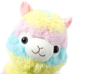 35 cm Regenbogen Alpaka Plüschtier Vicugna Pacos Japanischen Weichem Plüsch Alpacasso Schaf Lama Gefüllte Spielzeug Geschenke für Kinder und Mädchen