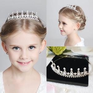 Çocuklar Kızlar Glitter Rhinestone Twinkle Prenses Taç Tiara Kafa Saç bandı Çiçek Çiçek Kız Düğün Doğum Günü Akşam Partisi