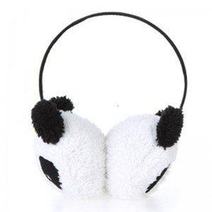 All'ingrosso-PHFU Cute Large Fluffy Fur Peluche Panda Earmuffs Winter Ear Warmer Ladies Women Girls