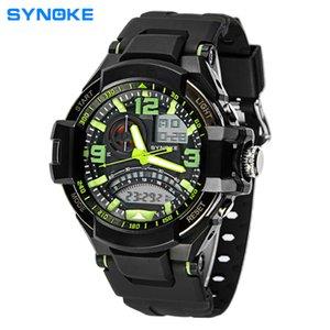 Natação relógio à prova d 'água dos homens Esportes Digitais LED Relógios Dos Homens de Energia Solar Dual Time Esportes Relógio Digital Homens Relógios Militares