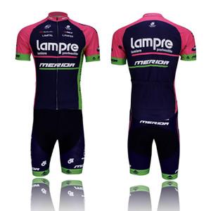 Велоспорт Джерси наборы LAMPR черный Открытый велосипед одежды короткие рукава нагрудник задействуя Джерси мужской моды на велосипеде одежды Wear велосипедов