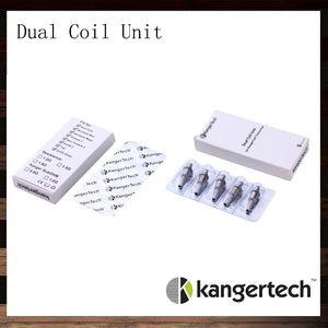 Nueva unidad Kanger Dual Coil para Kangertech Aerotank Aerotank Mega Aerotank Mini Evod Glass Protank3 Mini EMOW Cartomizer 100% Original