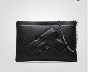 Top grade de Fábrica Saco de Ombro Saco de Impressão 3D Designer de Pistola Bolsa Mulheres Messenger Bags Dia Embreagens Vlieger Vandam