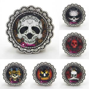 Envío gratuito de la nueva llegada de Halloween joyería de la calabaza joyería Cabochon Halloween cráneo broche para el día de Halloween regalo joyería