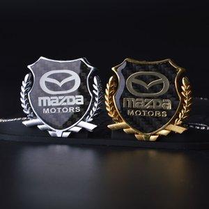 logo 2pcs Refinamiento 3D insignia del emblema de los gráficos de la etiqueta engomada del coche MAZDA